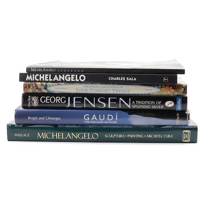 Michelangelo, Gaudí, Georg Jensen, Louis C Tiffany, and Other Design Books