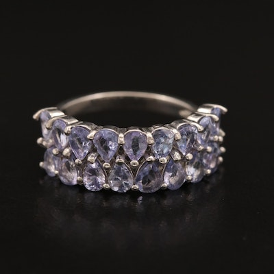 Sterling Tanzanite Band