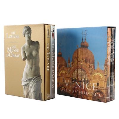 Venice and Paris Museum Art and Architecture Books