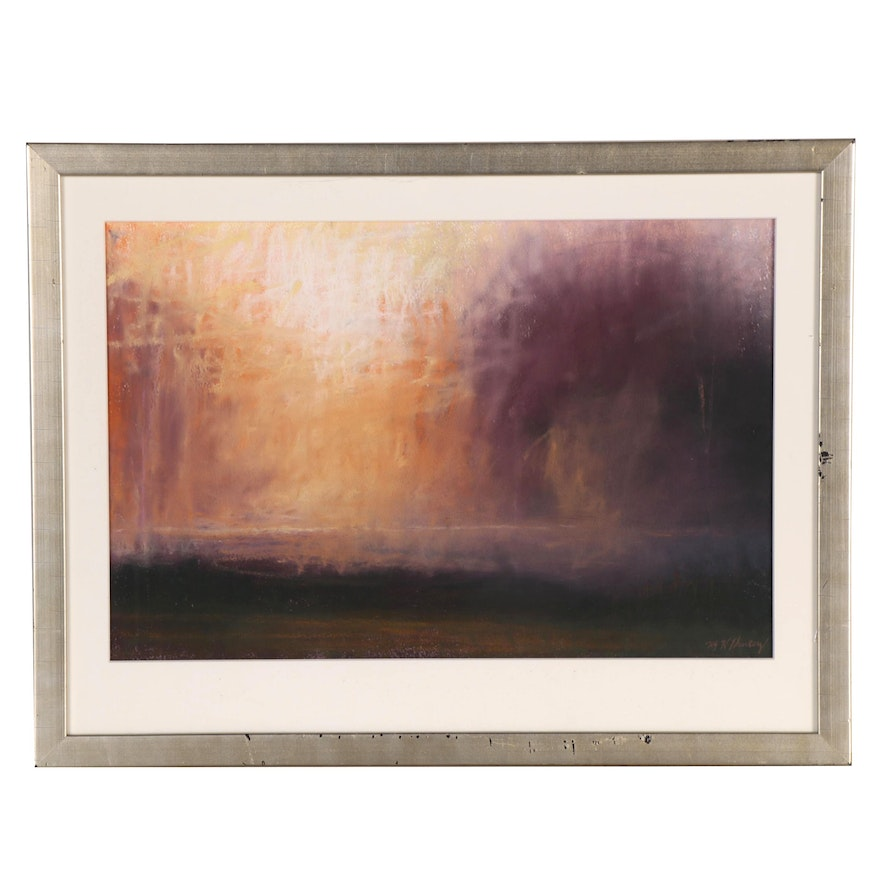 M. Katherine Hurley Abstract Landscape Pastel Drawing