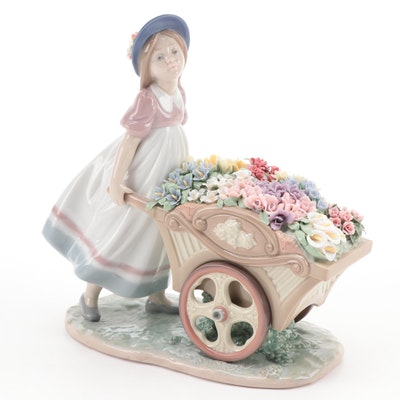 "Lladró ""Love's Tender Tokens"" Porcelain Figurine Designed by José Puche"