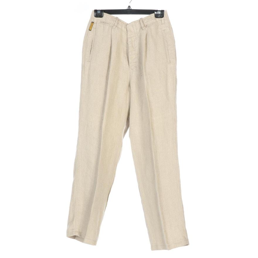 Men's Armani Jeans Linen Pants