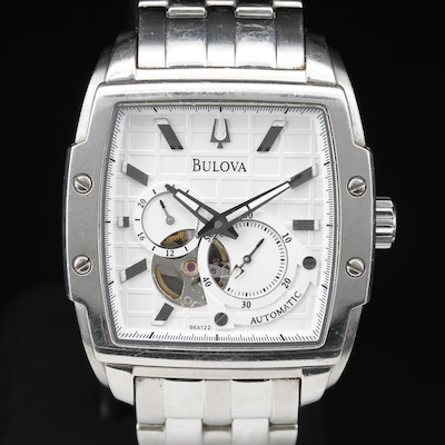 Bulova BVA Dual Aperature Stainless Steel Automatic Wristwatch