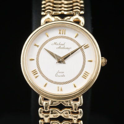 14K Michael Anthony Quartz Wristwatch