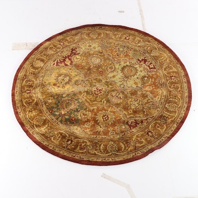 7'11 Round Hand-Tufted Indian Nourison Wool Rug for The Rug Gallery