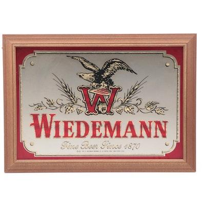 "Wiedemann ""Fine Beer Since 1870"" Mirrored Wall Sign, 1981"
