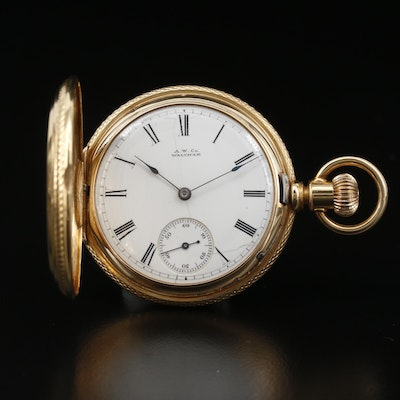 1880 Waltham Royal 18K Gold Hunting Case Pocket Watch