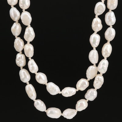Hand Knotted Strand of Pearls