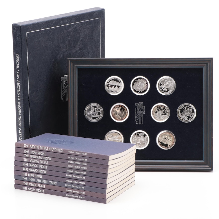 999 Fine Silver Official Coin Medals Of Indian Tribal Nations 1974 Ebth