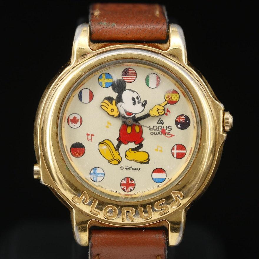 Lorus Mickey Mouse Musical Quartz Wristwatch