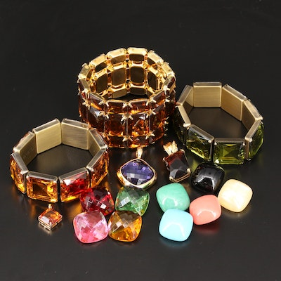 Joan Rivers and Kenneth Jay Lane Bracelets and Pendants
