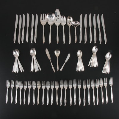 "1847 Rogers Bros. ""Magic Rose"" Silver Plate Flatware, 1963–1969"