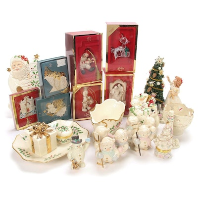 Lenox Bone China Holiday Figurines, Ornaments, and Table Accessories