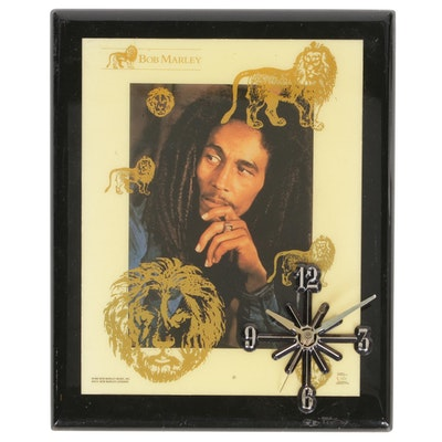 Bob Marley Wall Clock, Late 20th Century