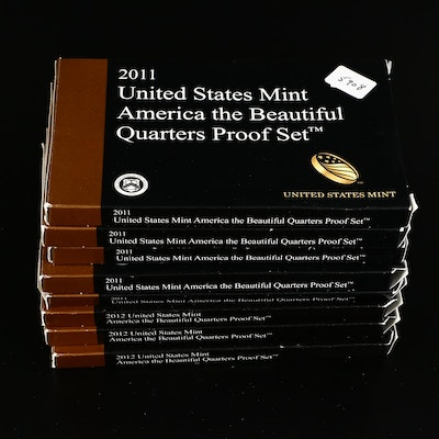 Key Date 2012 America the Beautiful Quarter Sets with 2011 Quarter Sets