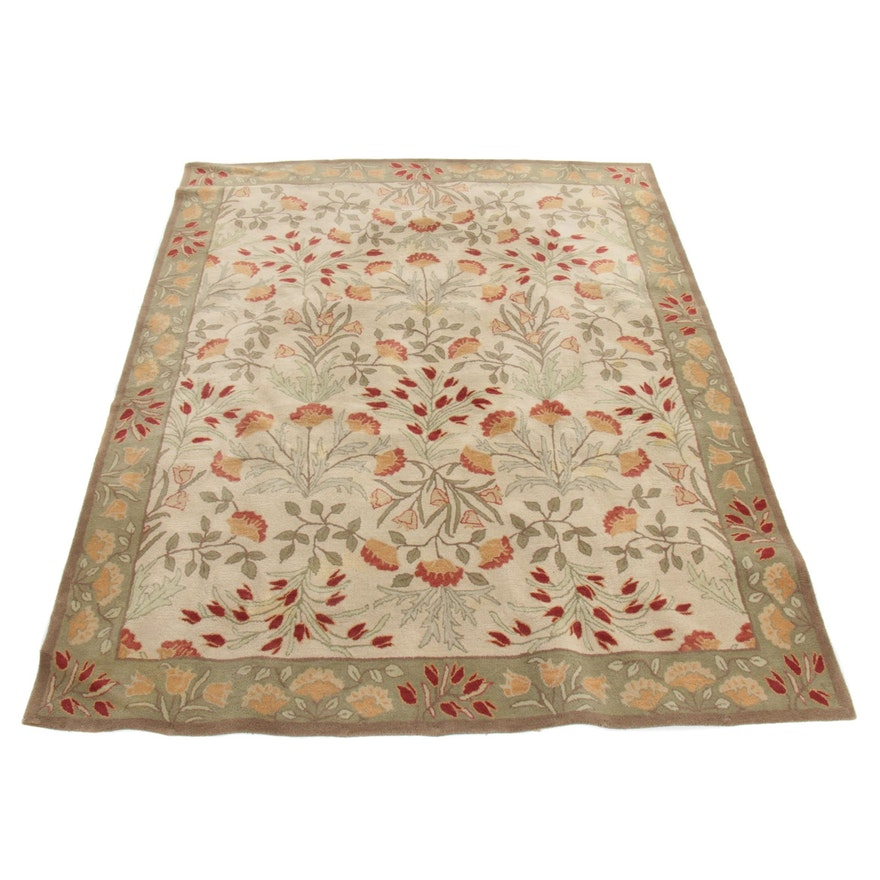 "8' x 10' Pottery Barn ""Adeline Sage"" Hand-Tufted Room-Size Rug"