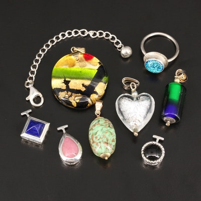 Pendants, Enhancers and Chain Extender Including Sterling Silver and 14K