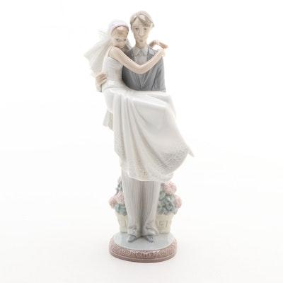 """Lladró """"Over the Threshold"""" Porcelain Figurine Designed by Juan Huerta"""
