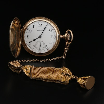 1908 Waltham Gold Filled Pocket Watch and Fob