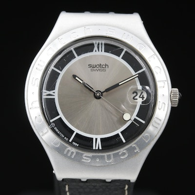 1995 Swatch Irony Smoking Aluminum Quartz Wristwatch