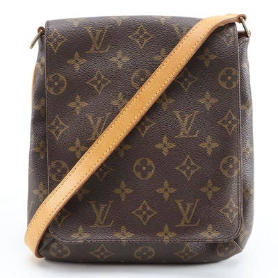 Louis Vuitton Musette Salsa Front Flap Crossbody in Monogram Canvas