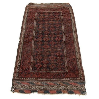 3'4 x 6'9 Hand-Knotted Caucasian Kazak Rug, Late 19th/Early 20th Century