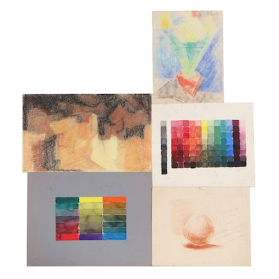 John Tuska Abstract Drawings of Color and Light Studies