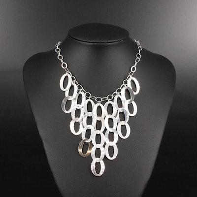 Sterling Fringe Bib Necklace