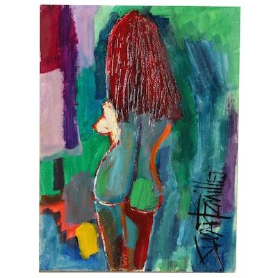 Michael Swartzmiller Nude Figure Acrylic Painting, 2020