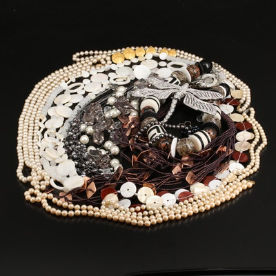 Necklaces, Earrings and Brooches Featuring Brooks Brothers and Mother of Pearl