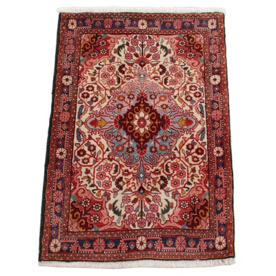 2'2 x 3'4 Hand-Knotted Persian Farahan Sarouk Rug