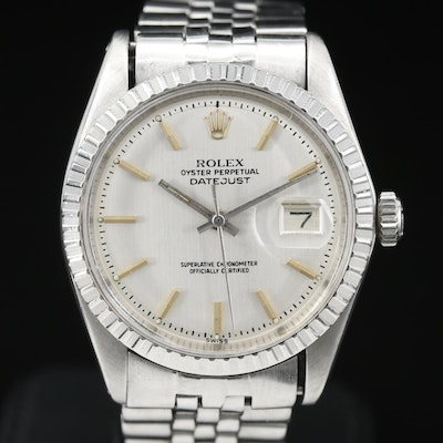 1978 Rolex Datejust Stainless Steel Automatic Wristwatch