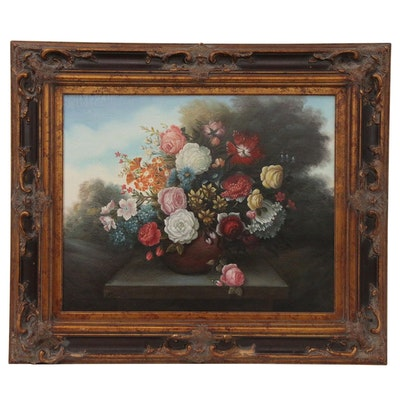 Dutch Style Floral Still Life Oil Painting, Late 20th to 21st Century