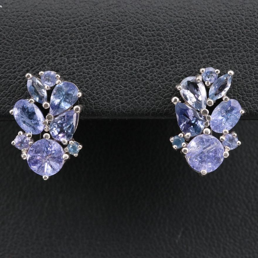 Sterling Silver Tanzanite Earrings