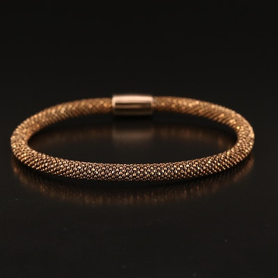 Sterling Silver Flexible Mesh Bangle