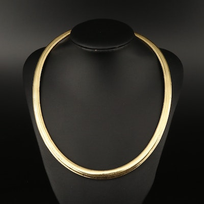 Graduated Herringbone Mesh Necklace with 14K Clasp