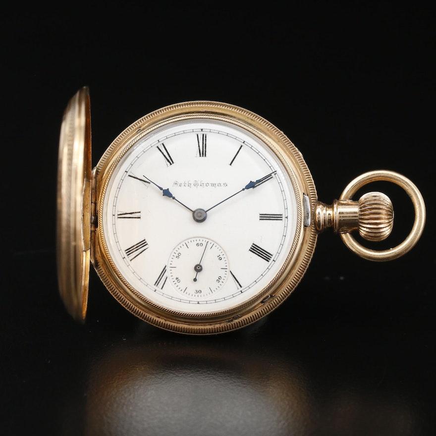 Seth Thomas 14K Hunting Case Pocket Watch