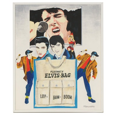 "Robert Benson ""Elvis Bag"" Oil Painting, 1978"