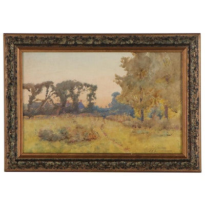 Thomas King Yalland Landscape Watercolor Painting