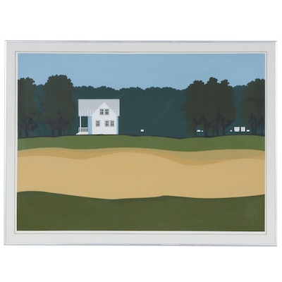 "Steve Horan Serigraph ""Michigan House"", 1976"