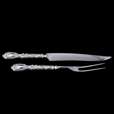 "Frank M. Whiting ""Victoria/Florence"" Sterling Silver Handled Carving Set"