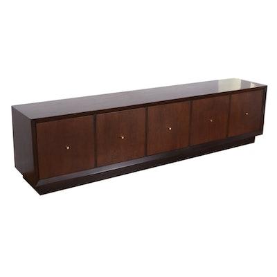 Mid Century Modern Walnut Veneer Credenza Cabinet