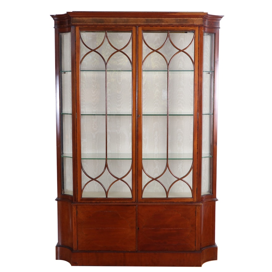 James Allan & Co. of Aberdeen George III Style China Curio Cabinet