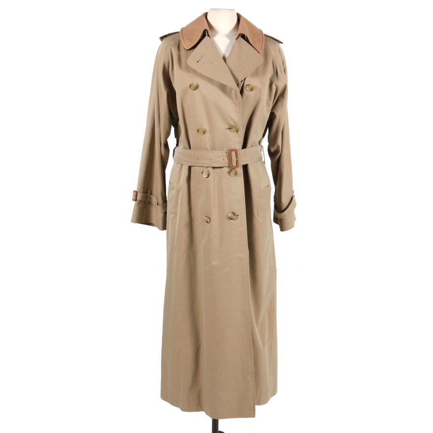 Burberrys Double-Breasted Trench Coat with Removable Lining, Vintage