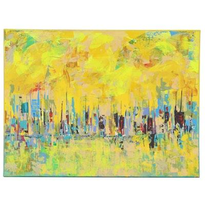 Farshad Lanjani Abstract Acrylic Painting, 2020