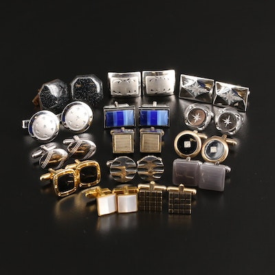 Cufflinks Selection Featuring Sterling, Gemstone Accents, Hickok and Anson
