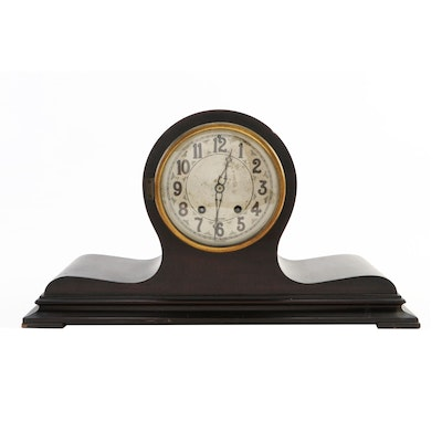 Herschede Hall Co. Wood Tambour Mantle Clock, 1920s