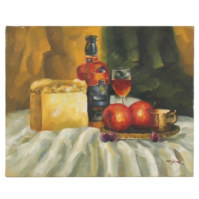 Impressionist Style Still Life Oil Painting