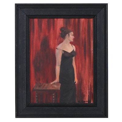 """Marcus Brewer Portrait Oil Painting """"Ode to Madam X"""""""