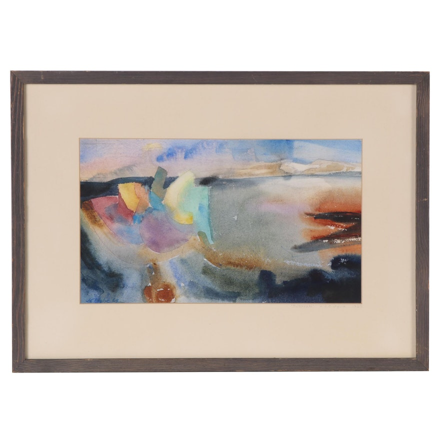"J.C. Wylie Watercolor Painting ""Tusayan"", 1969"